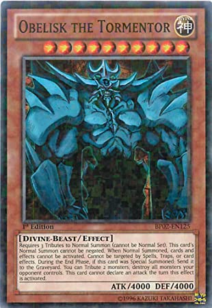 Yu-Gi-Oh! - Obelisk the Tormentor (BP02-EN125) - Battle Pack 2: War of the Giants - 1st Edition - Mosaic Rare by Yu-Gi-Oh!: Amazon.es: Juguetes y juegos