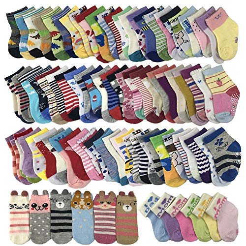 Baby Boy Girl Socks Wholesale 20 Pairs Baby Socks Cotton Girl 1-3 T (Wholesale Baby Socks)