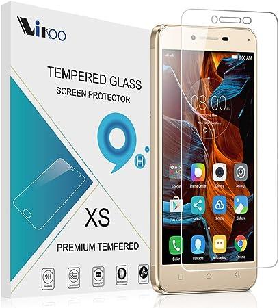 Lenovo K5 Protector de Pantalla, VIFLYKOO Cristal Vidrio Templado Protector 9H 2.5D Tempered Glass Screen Protector para Lenovo K5 Smartphone: Amazon.es: Electrónica