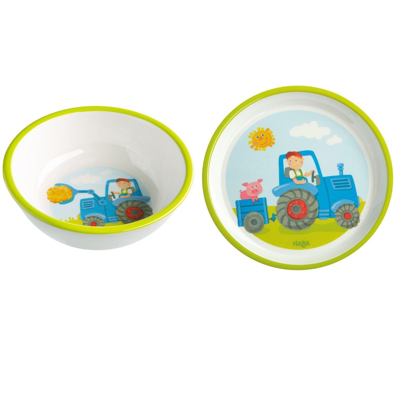 Haba Tracteur Lot de 2/302817/302819/Bol Assiette