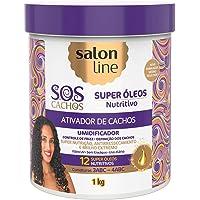 Salon Line Creme Ativador de Cachos SOS Nutritivo, Branco, 1000 g