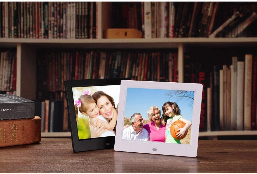Gohbqany Digital Picture Frames 8 Inch Digital Picture Frame 1024768 Pixels High Resolution Smart Electronic Frame with Motion Sensor Auto On//Off Timer Remote Control Included Video Frame