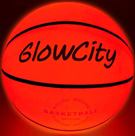 GlowCity Light Up - Balón de Baloncesto LED (tamaño 5, 27,5 ...