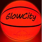 GlowCity LED Light-Up Basketball – Size 5, 27.5 inch, Ideal for Youth & Pre-Teen Night Games – Impact Activated Glow-in-The-D