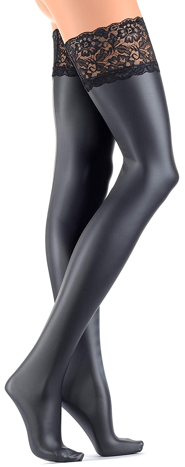494598e41ce Trasparenze Allen Leather Look Hold Ups  Amazon.co.uk  Clothing