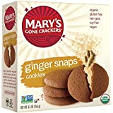 Mary's Gone Crackers Love Cookies, Ginger Snaps, 5.5 Ounce (Pack of 6)