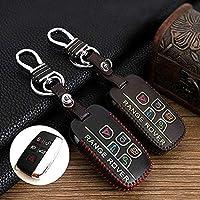 Chiave di pelle guscio cover Skin Jacket Fit per Land Rover Range Rover Evoque Freelander 5 tasto Smart Remote Key (marrone)