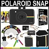 Polaroid Snap Instant Camera (Black) + 2x3 Zink Paper (30 Pack) + Neoprene Pouch + Photo Frames + Photo Album + 8GB Memory Card + Accessory Bundle