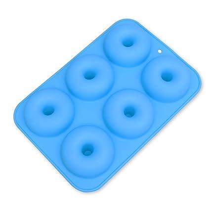 ounona molde de silicona Donut molde para hornear antiadherente seguro bandeja de horno para eléctrica Resistencia
