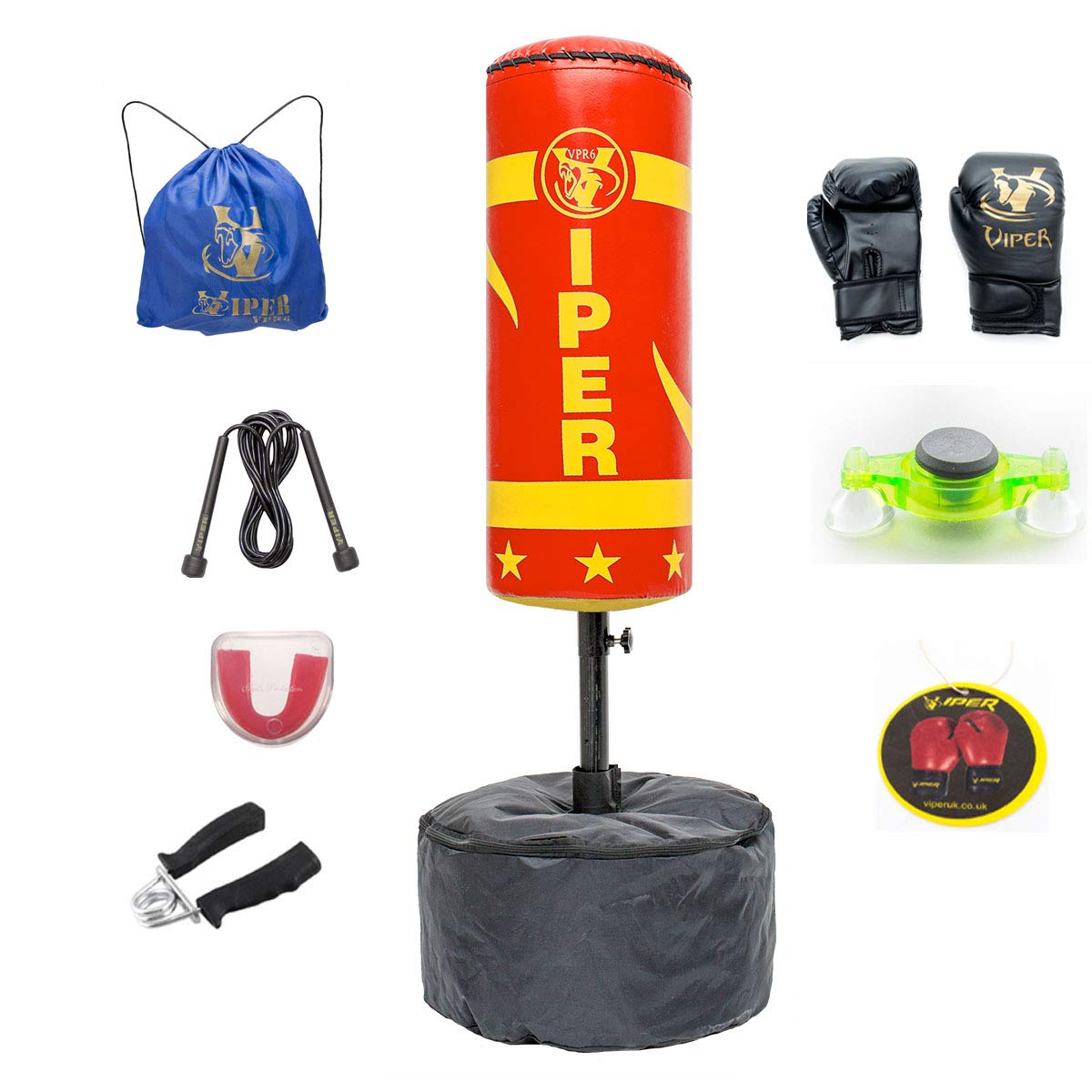 RED VIPER Free Standing Boxing Punching Bag Stand For Kids Target Heavy Duty Punch Bags Kickboxing MMA