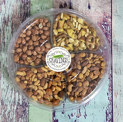 """Mixed Nuts Gift Tray 4 Assortments 10"""" Butter Toffee Pean..."""