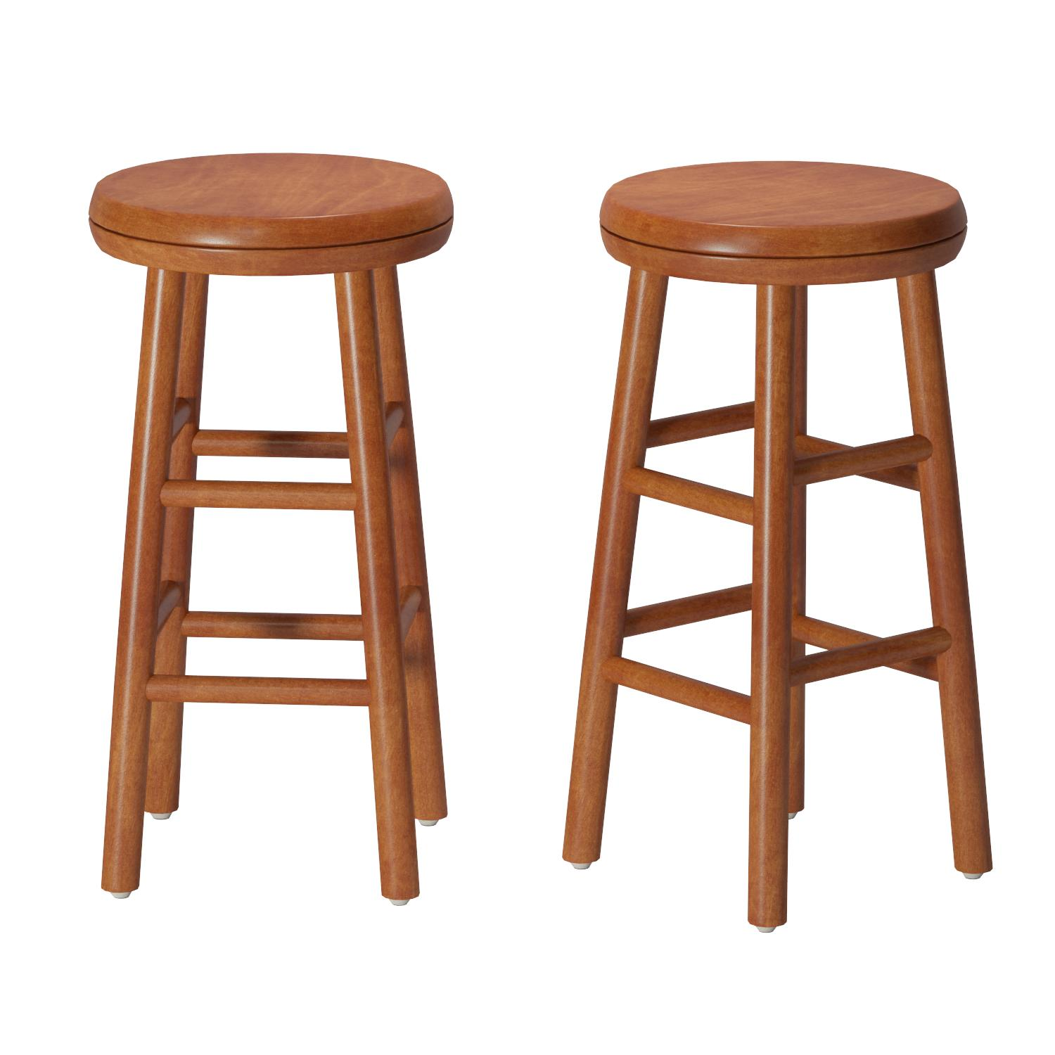 Lovely Bar Stools Natural Wood