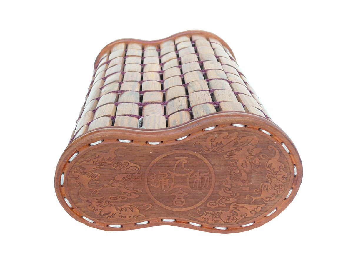 Quality Handmade Chinese Huanghuali Rosewood Pillow afs700 by Golden Lotus (Image #5)