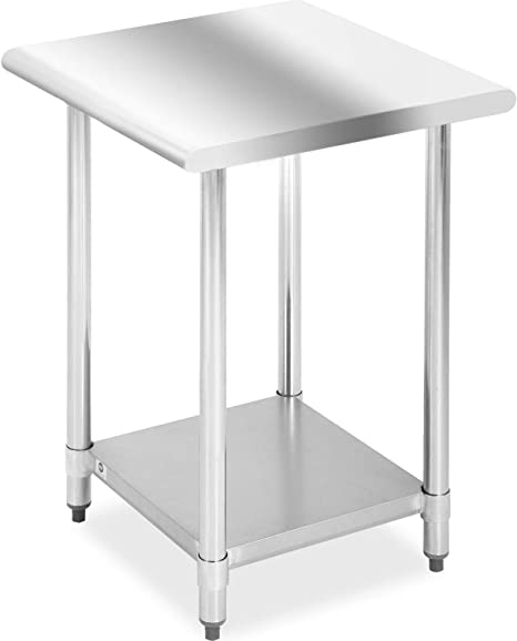 Amazon Com Kitchen Work Table Stainless Steel Metal Commercial Nsf Work Table With Adjustable Table Toot 24wx24l Kitchen Dining