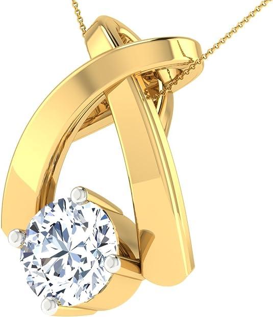 Dishis Designer Jewellery 18KT Yellow Gold Pendant for Women Pendants