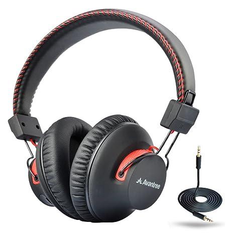 Avantree Cuffie Over Ear Bluetooth 4.0 autonomia di 40 ore con microfono e  con funzionamento 3b1caa5a4a2e