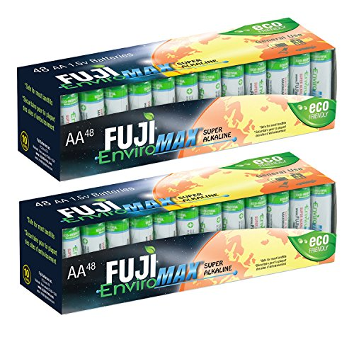 Fuji EnviroMAX Super Alkaline AA Eco Friendly Batteries (Pack of 96)