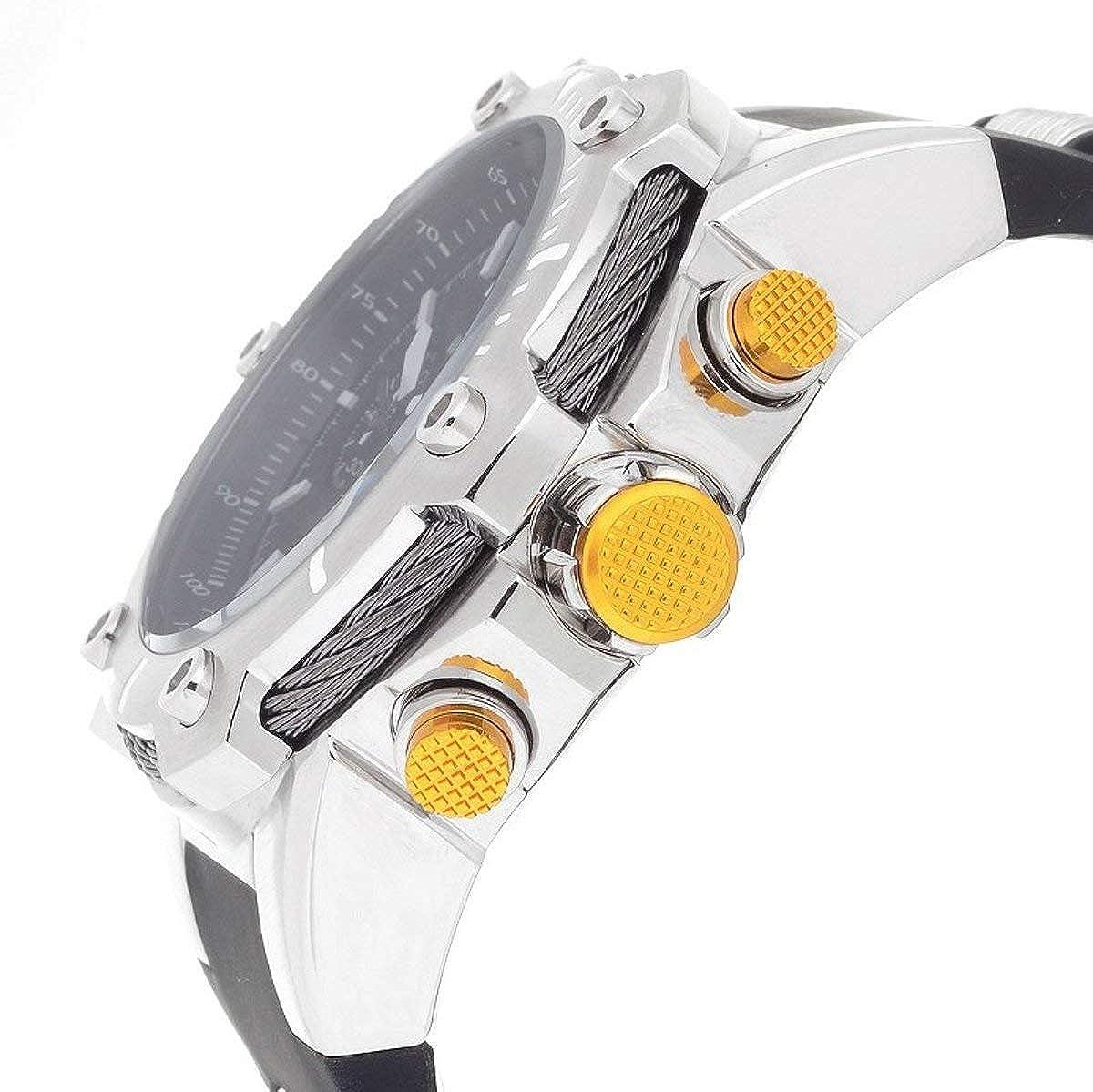 Amazon.com: Invicta Mens Bolt Stainless Steel Quartz Watch with Polyurethane Strap, Black, 30 (Model: 25472: Watches