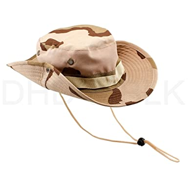 043615b6fb4 Image Unavailable. Image not available for. Color  Bucket Hat Boonie  Hunting Fishing Outdoor Men Cap Washed Cotton New W Strings ...