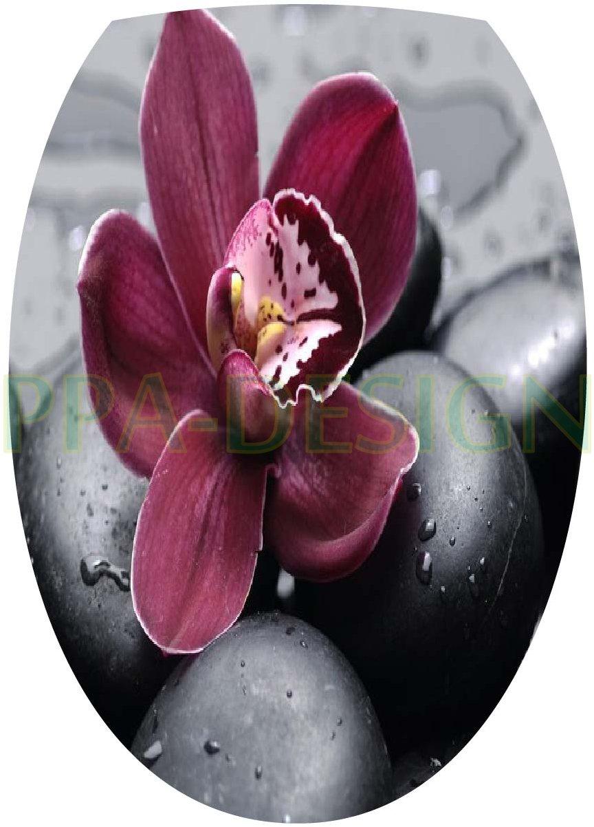 Sticker Autocollant Abattant WC Galets Orchid/ée 35x42cm SAWC0063
