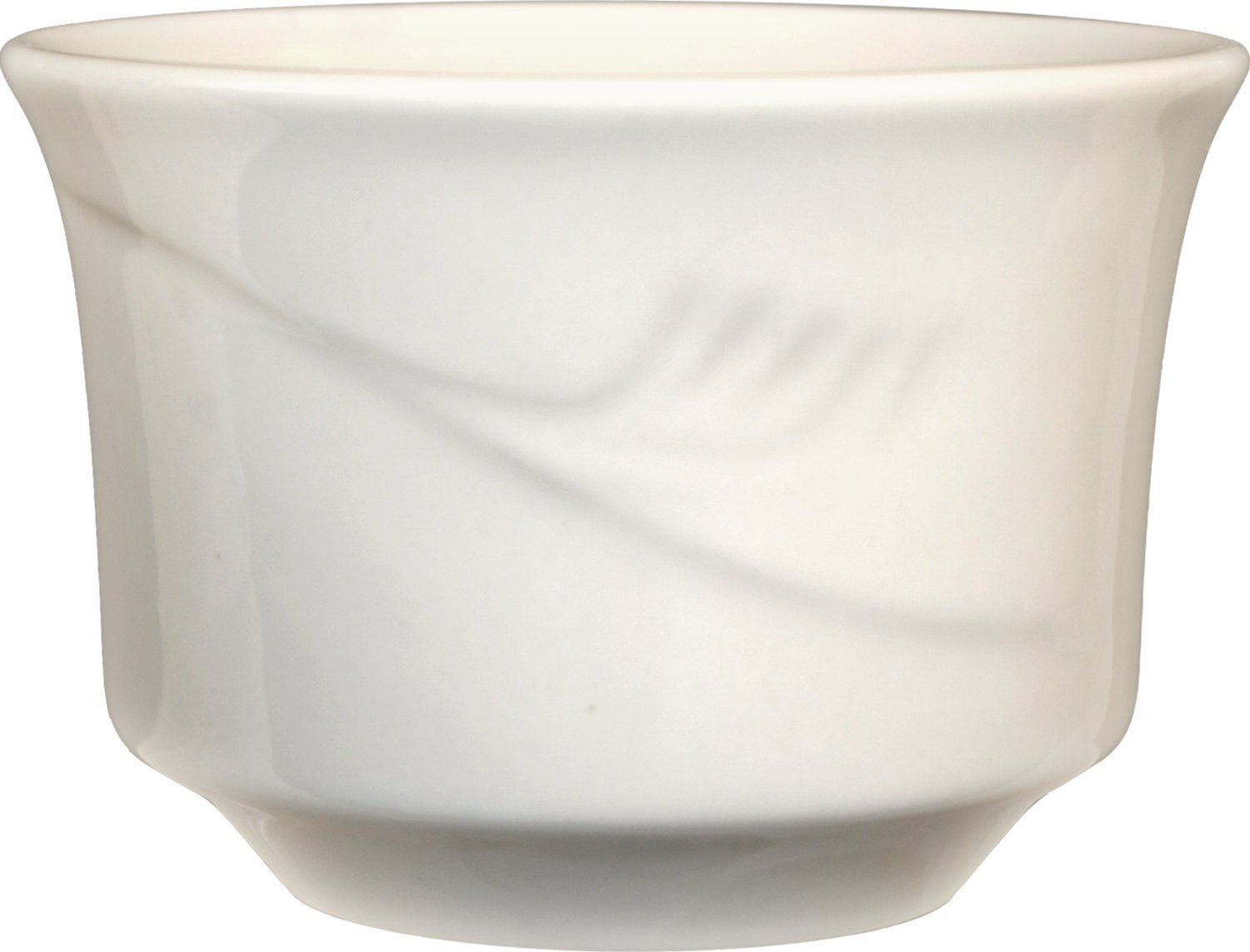 ITI - NP-4 NEWPORT  Bouillon American White 3-5/8 Inch - 7.5 Ounce, 36-piece, off white, Embossed Pattern