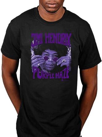 Purple Haze Men/'s Black T-Shirt Official Jimi Hendrix
