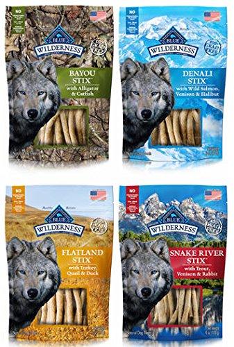BLUE Wilderness Grain-Free Dog Stix, 4 Flavor pack