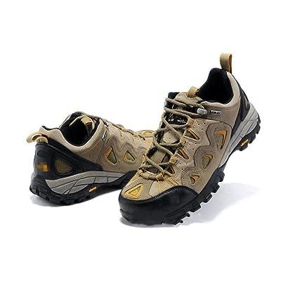 Chaussures de randonnée pour hommes Automne et hiver Aide faible Anti-fourrure Chaussures de marche Chaussures d'extérieur ?Bleu, Kaki? , khaki a081 male , 41