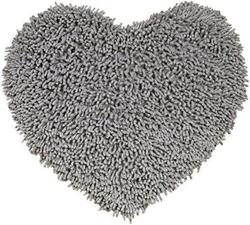 Gray 20×24 Shagadelic Chenille Twist Heart Rug