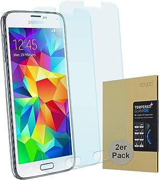 doupi 2X Protector de Pantalla Compatible con Samsung Galaxy S5, 3D 9H HD Duro Vidrio Templado, 2 Piezas, Transparente: Amazon.es: Electrónica