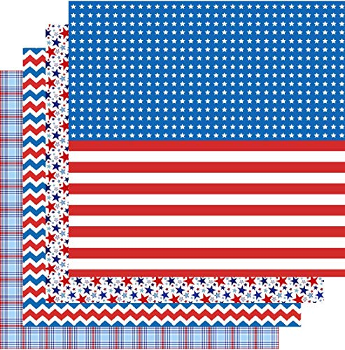 - American Flag Patterned Vinyl, 4th of July, Patriotic, Red White Blue, 4-12
