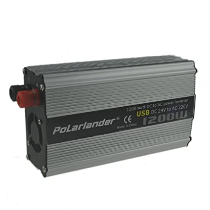 BoomBoost Portable CAM 1200W CC 24V AC 220V Car Power Inversor de Coche Adaptador Cargador Convertidor de Coche
