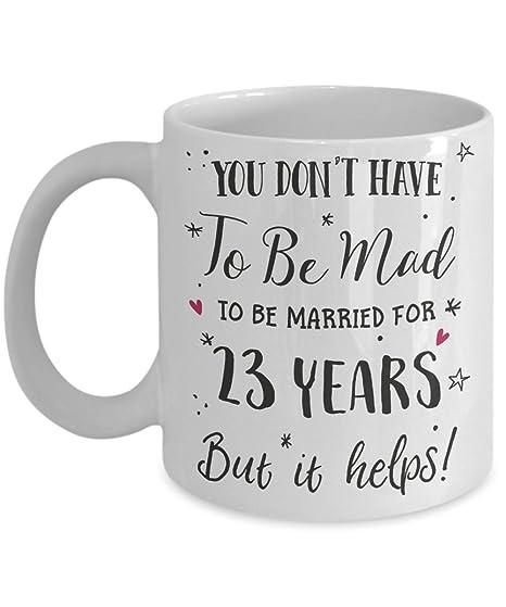 Amazoncom 23rd Wedding Anniversary Gift Mug Funny Wife