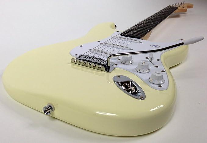 Fender Squier Bullet Strat guitarra eléctrica en Arctic White - Blanco + iRig Guitarra Interfaz para iPhone y iPad + Auriculares JVC + Seiko Afinador con ...