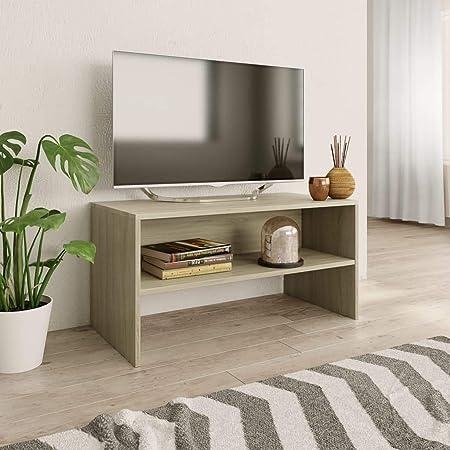 UnfadeMemory Mueble para TV,Mesa para TV,Estante de TV para Salón Dormitorio,Estilo Clásico,con Compartimento Abierto,Madera Aglomerada (Roble Sonoma, 80x40x40cm): Amazon.es: Hogar