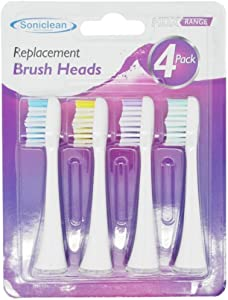 Soniclean Platinum HDX Replacement Toothbrush Sonic Head, Pack of 4