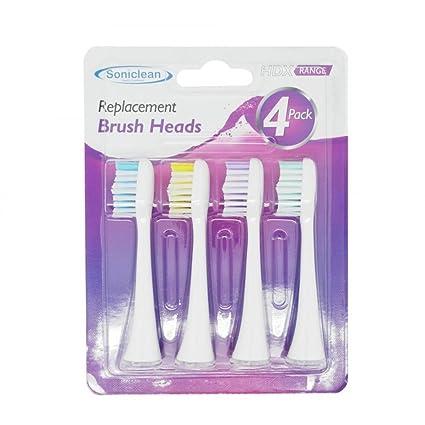 Soniclean Platinum HDX - Cepillo de dientes (cabeza sónica, 4 unidades)