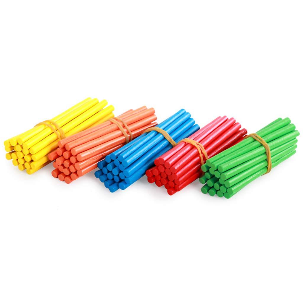 Spielzeug f/ür Lehrer und Sch/üler Fenteer 100x Z/ählst/äbchen Rechenst/äbchen Mathematisches Lehrmittel