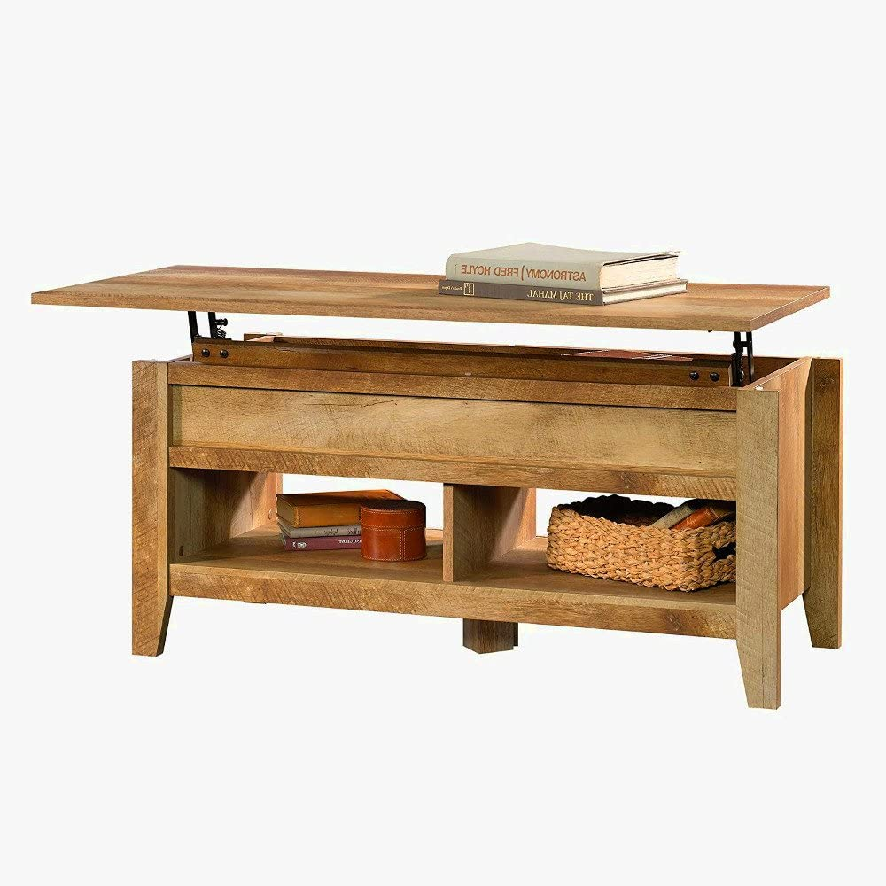 - Amazon.com: Rustic Oak Coffee Table For Living Room Wood With
