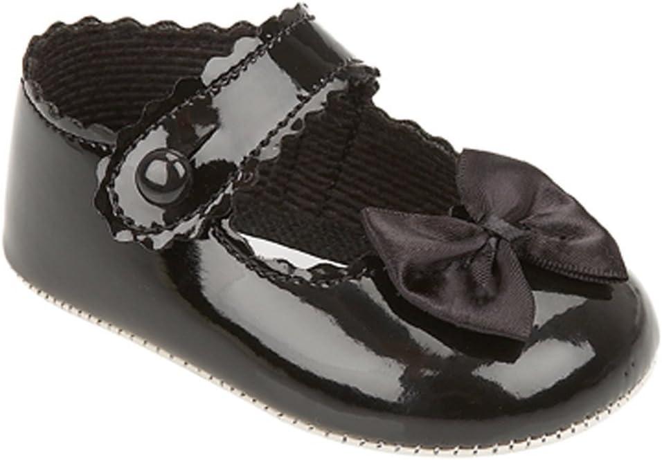 Beb/é de Baypods la fiesta de chica de espaldas en ropa a carrito de paseo zapatos de baile para de bautizo para padrinos a principios de los d/ías negro negro Talla:0-3 meses