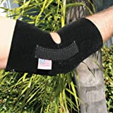 Professionals Choice Knee/Elbow Support with Stays (Universal Size, Black)