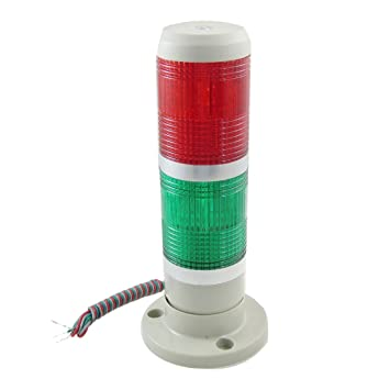 sourcingmap® 24V DC Industrial Red Green LED Signal Tower Lamp ...
