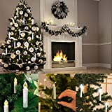 Flameless Warm White Electric LED Taper Candles