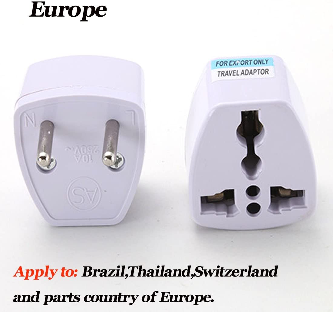 Adaptador de enchufe, 110 – 250 V, Reino Unido, Europa, Estados Unidos, enchufe estándar de transferencia, Australia, Alemania, Sudáfrica (1 pieza): Amazon.es: Coche y moto