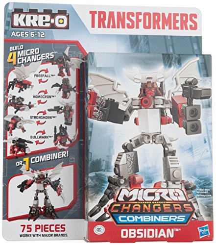 KRE-O Transformers Age of Extinction Micro-Changers Combiners Firewing Obsidian Construction - Transformers Combiners Kreo