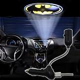 Spoya 3D Batman symbol badge USB Car dome ceiling CREE LED cigarette lighter logo laser projector light lamp