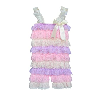 183732eeabe4 Winsummer Toddler Infant Baby Girls Bowknot Lace Spaghetti Ruffle Folds Romper  Jumpsuit Birthday Outfit Summer Clothes