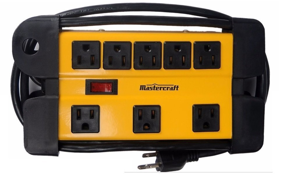 Heavy Duty 8-Outlet Contractor Power Bar, 6 ft Cord by Mastercraft