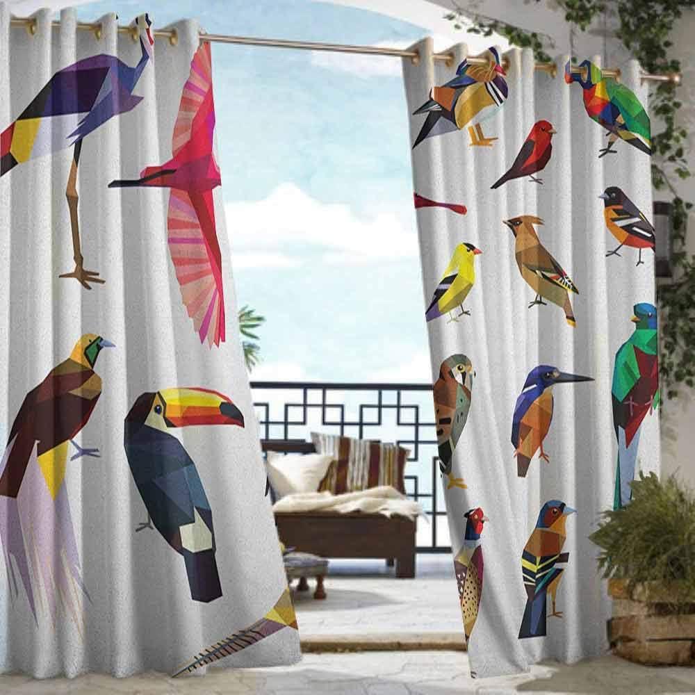 XXANS Cortina de pérgola, Siluetas de Animales de Avia, con una Escena de Diente de león de la Naturaleza, patrón de Fauna y Flora: Amazon.es: Jardín