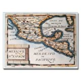Map of Mexico or New Spain 1625 by Bridgeman Library work, 14 by 19-Inch Canvas Wall Art